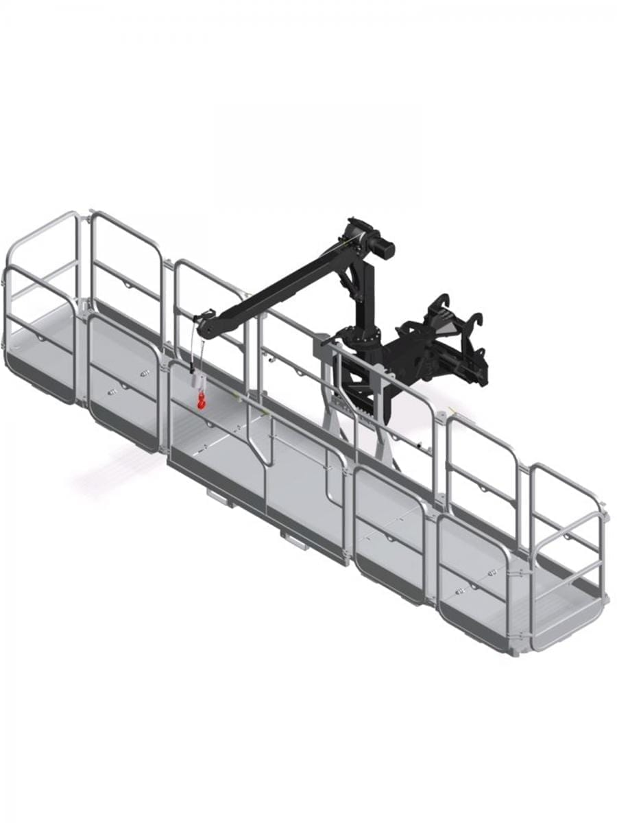 ROTATING EXTENDABLE SAFETY BASKET – 4.7 M 800 KG WITH 300 KG WINCH